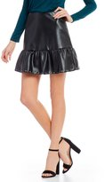 Freestyle Flounce Faux Leather Skirt