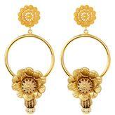 Dolce & Gabbana Floral Loop Drop Clip-On Earrings