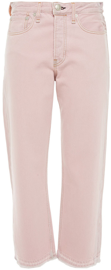 Thumbnail for your product : Rag & Bone Cropped Distressed High-rise Straight-leg Jeans