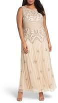 Pisarro Nights Plus Size Women's Beaded A-Line Gown