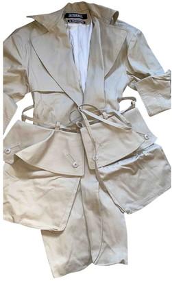 Jacquemus La Collectionneuse Beige Cotton Trench Coat for Women