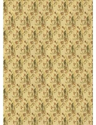 Osborne East Urban Home Floral Wool Brown Area Rug East Urban Home Rug Size: Rectangle 4' x 6'