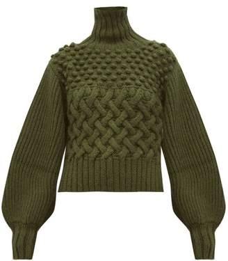 Apiece Apart Quercia Cable-knit Alpaca-blend Sweater - Womens - Green