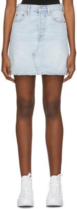 Levi's Levis Blue Demin High-Rise Deconstructed Miniskirt