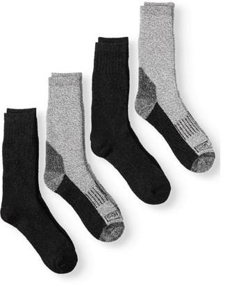 Dickies Genuine Men's Wool Marl Thermal Steel Toe Crew Socks, 4-Pack