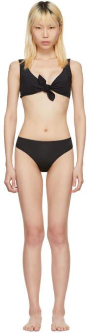 Maryam Nassir Zadeh Black Patina Bikini