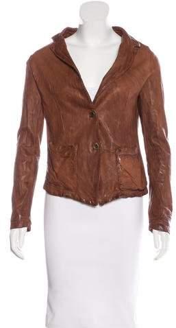 Giorgio Brato Distressed Leather Blazer w/ Tags