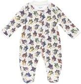 Jo-Jo JoJo Maman Bebe Penguin Footie (Baby) - White-3-6 Months