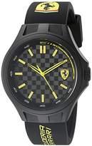Ferrari 830286 Pit Crew Analog Display Quartz Black Watch