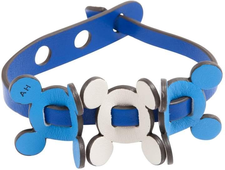 Anya Hindmarch Blue Leather Bracelets