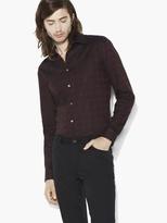 John Varvatos Jacquard Plaid Shirt