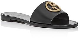Giorgio Armani Women's Logo Slide Sandals