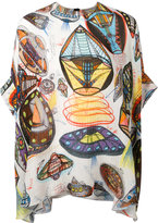 Christopher Kane UFO printed silk top