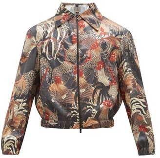 Boramy Viguier Rooster-print Satin Coach Jacket - Multi