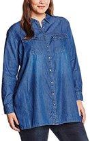 New Look Women's Plus-Size Longline Denim Shirt