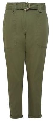 Dorothy Perkins Womens Dp Petite Khaki Utility Trousers, Khaki