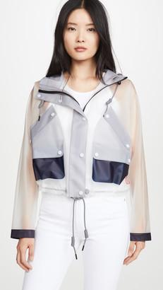 Hunter Vinyl Crop Smock Colorblocked Raincoat