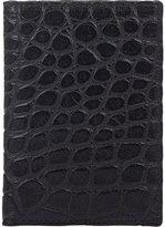 Barneys New York Men's Alligator Folding Card Case-BLACK