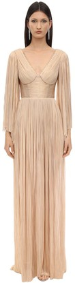 Maria Lucia Hohan Catalina Long Embellish Silk Tulle Dress