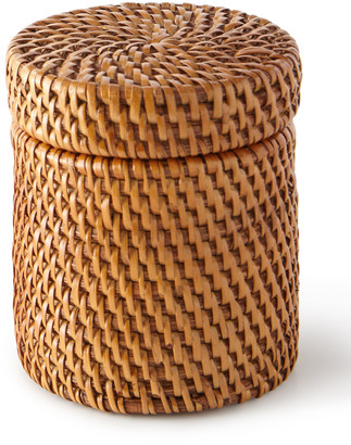 Pigeon And Poodle Dalton Round Rattan Canister