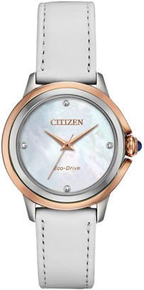 Citizen Eco-Drive Women's Ceci Diamond Accent White Watch