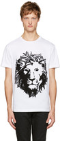 Versus White Embroidered Lion T-Shirt