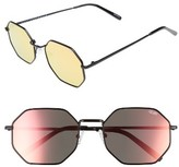 Quay Women's On A Dime 56Mm Mirrored Aviator Sunglasses - Black/ Rose Red