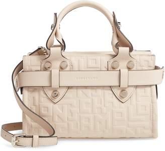 Longchamp Small Voyageuse Logo Embossed Leather Satchel