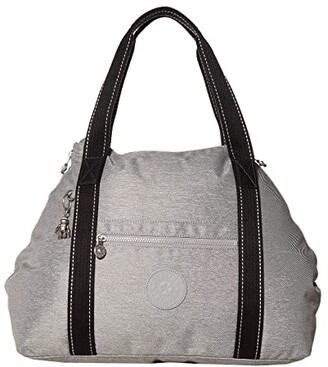 Kipling Art Medium Tote Bag (Chalk Grey) Handbags
