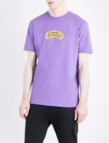 Criminal Damage Crest logo-print cotton-jersey T-shirt