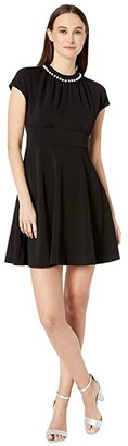 Kate Spade Pearl Pave Crepe Dress (Black) Women's Dress
