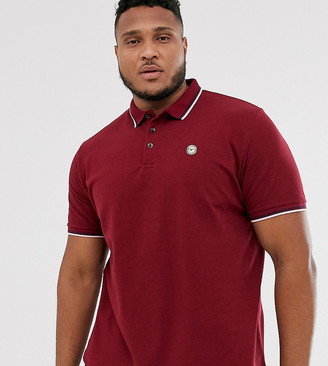 Le Breve Plus tipped slim fit polo shirt