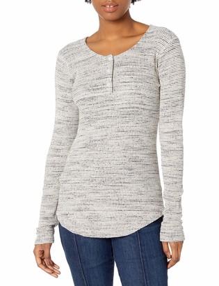 Monrow Women's Spec Thermal Long Sleeve Henley