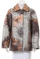 Alberta Ferretti Brocade Cocoon Coat w/ Tags