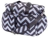 Trend Lab Chevron Duffle Diaper Bag in Black/Grey
