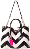Betsey Johnson Suite Life Chevron Tote