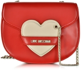 Love Moschino Red&Ivory Eco Leather Shoulder Strap w/Heart
