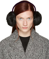Carven Black Faux-fur Ear Muffs