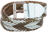 Cacharel Woven Leather Belt