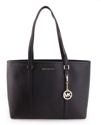 Michael Kors Women's Totebags BLACK - Black Sady Large Leather Tote