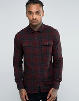 Replay Check Flannel Shirt in Red