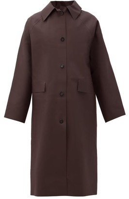 Kassl Editions Original Below Rubber Waterproof Overcoat - Dark Brown