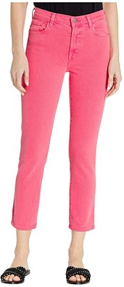 J Brand Ruby High-Rise Crop Skinny in Pink Coral (Pink Coral) Women's Jeans