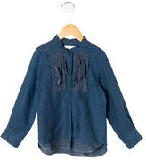 Chloé Girls' Pleated Long-Sleeve Top