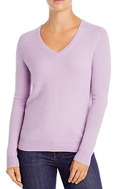C by Bloomingdale's V-Neck Cashmere Sweater - 100% Exclusive
