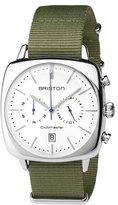 Briston Clubmaster Vintage Chronograph Watch, Green/White