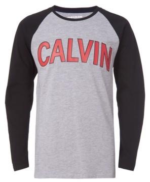 Calvin Klein Little Boys Arch Logo Long Sleeve Raglan Tee