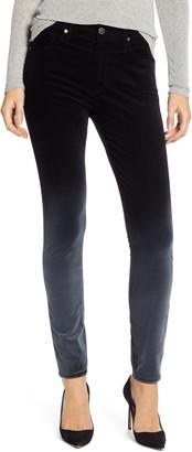 AG Jeans The Farrah High Waist Velvet Ankle Skinny Jeans