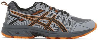 Asics Grey and Orange Gel-Venture 7 Sneakers