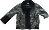 Eleven Paris Grey Wool Leather Jacket for Women